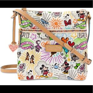 Disney Sketch Letter Carrier Crossbody Bag